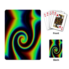Background Colorful Vortex In Structure Playing Card by Simbadda