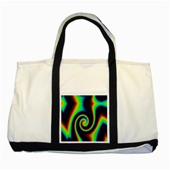 Background Colorful Vortex In Structure Two Tone Tote Bag by Simbadda