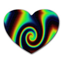 Background Colorful Vortex In Structure Heart Mousepads by Simbadda