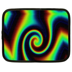 Background Colorful Vortex In Structure Netbook Case (xxl)  by Simbadda