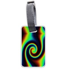 Background Colorful Vortex In Structure Luggage Tags (two Sides) by Simbadda