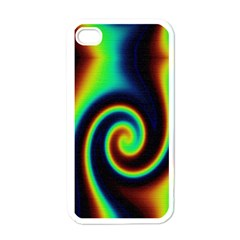 Background Colorful Vortex In Structure Apple Iphone 4 Case (white)