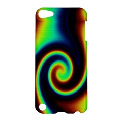 Background Colorful Vortex In Structure Apple Ipod Touch 5 Hardshell Case by Simbadda