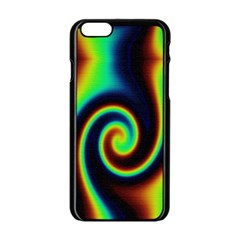 Background Colorful Vortex In Structure Apple Iphone 6/6s Black Enamel Case by Simbadda