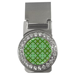 Digital Computer Graphic Seamless Geometric Ornament Money Clips (cz)  by Simbadda