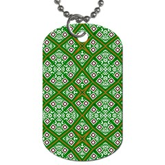 Digital Computer Graphic Seamless Geometric Ornament Dog Tag (two Sides) by Simbadda