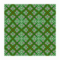 Digital Computer Graphic Seamless Geometric Ornament Medium Glasses Cloth (2 Side) by Simbadda
