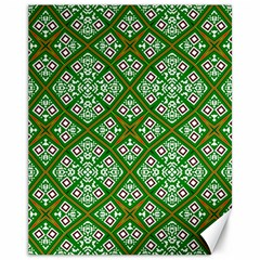 Digital Computer Graphic Seamless Geometric Ornament Canvas 11  X 14   by Simbadda
