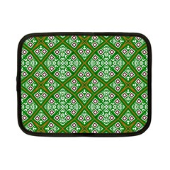 Digital Computer Graphic Seamless Geometric Ornament Netbook Case (small)  by Simbadda