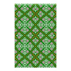 Digital Computer Graphic Seamless Geometric Ornament Shower Curtain 48  X 72  (small)  by Simbadda