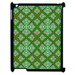 Digital Computer Graphic Seamless Geometric Ornament Apple Ipad 2 Case (black) by Simbadda