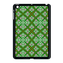 Digital Computer Graphic Seamless Geometric Ornament Apple Ipad Mini Case (black) by Simbadda