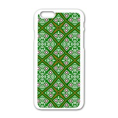 Digital Computer Graphic Seamless Geometric Ornament Apple Iphone 6/6s White Enamel Case by Simbadda