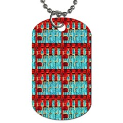 Architectural Abstract Pattern Dog Tag (two Sides) by Simbadda