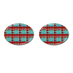 Architectural Abstract Pattern Cufflinks (oval) by Simbadda