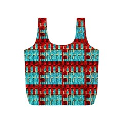 Architectural Abstract Pattern Full Print Recycle Bags (s)  by Simbadda