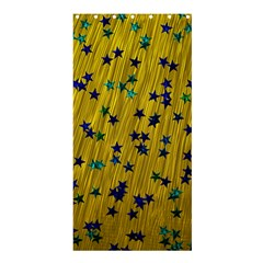 Abstract Gold Background With Blue Stars Shower Curtain 36  X 72  (stall)  by Simbadda