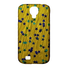 Abstract Gold Background With Blue Stars Samsung Galaxy S4 Classic Hardshell Case (pc+silicone) by Simbadda