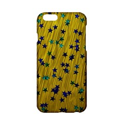 Abstract Gold Background With Blue Stars Apple Iphone 6/6s Hardshell Case by Simbadda