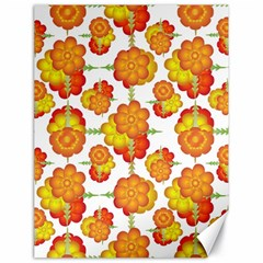 Colorful Stylized Floral Pattern Canvas 18  X 24   by dflcprints