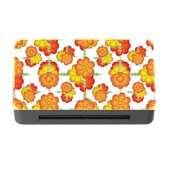 Colorful Stylized Floral Pattern Memory Card Reader With Cf by dflcprints
