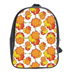 Colorful Stylized Floral Pattern School Bags (xl)  by dflcprints