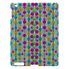 Wood And Flower Trees With Smiles Of Gold Apple Ipad 3/4 Hardshell Case by pepitasart