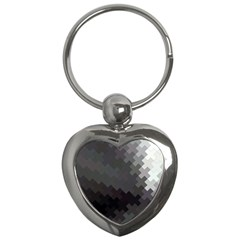 Abstract Pattern Moving Transverse Key Chains (heart)  by Simbadda