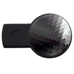 Abstract Pattern Moving Transverse Usb Flash Drive Round (2 Gb)