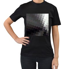 Abstract Pattern Moving Transverse Women s T Shirt (black) (two Sided) by Simbadda