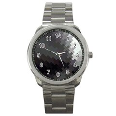 Abstract Pattern Moving Transverse Sport Metal Watch