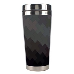 Abstract Pattern Moving Transverse Stainless Steel Travel Tumblers by Simbadda