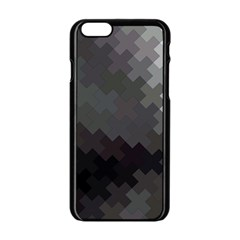 Abstract Pattern Moving Transverse Apple Iphone 6/6s Black Enamel Case by Simbadda