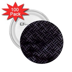 Woven2 Black Marble & Black Watercolor (r) 2 25  Button (100 Pack) by trendistuff