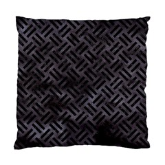 Woven2 Black Marble & Black Watercolor (r) Standard Cushion Case (two Sides) by trendistuff