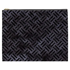 Woven2 Black Marble & Black Watercolor (r) Cosmetic Bag (xxxl) by trendistuff