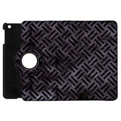 Woven2 Black Marble & Black Watercolor (r) Apple Ipad Mini Flip 360 Case by trendistuff
