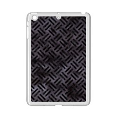 Woven2 Black Marble & Black Watercolor (r) Apple Ipad Mini 2 Case (white) by trendistuff