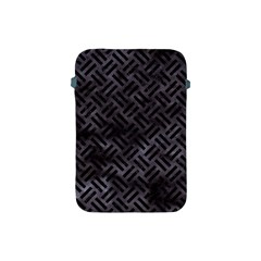 Woven2 Black Marble & Black Watercolor (r) Apple Ipad Mini Protective Soft Case by trendistuff