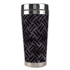 Woven2 Black Marble & Black Watercolor (r) Stainless Steel Travel Tumbler by trendistuff