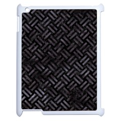 Woven2 Black Marble & Black Watercolor Apple Ipad 2 Case (white) by trendistuff