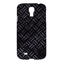 Woven2 Black Marble & Black Watercolor Samsung Galaxy S4 I9500/i9505 Hardshell Case by trendistuff