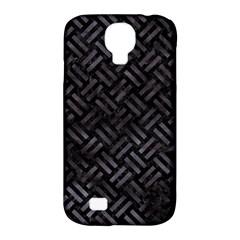 Woven2 Black Marble & Black Watercolor Samsung Galaxy S4 Classic Hardshell Case (pc+silicone) by trendistuff