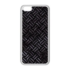 Woven2 Black Marble & Black Watercolor Apple Iphone 5c Seamless Case (white) by trendistuff