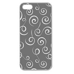 Pattern Apple Seamless Iphone 5 Case (clear) by Valentinaart