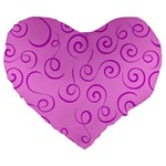 Pattern Large 19  Premium Heart Shape Cushions Front