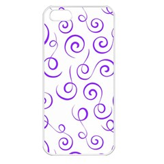 Pattern Apple Iphone 5 Seamless Case (white) by Valentinaart