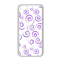 Pattern Apple Iphone 5c Seamless Case (white) by Valentinaart