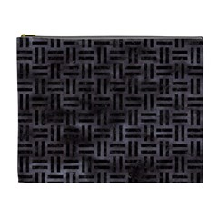 Woven1 Black Marble & Black Watercolor (r) Cosmetic Bag (xl) by trendistuff