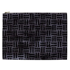 Woven1 Black Marble & Black Watercolor (r) Cosmetic Bag (xxl) by trendistuff